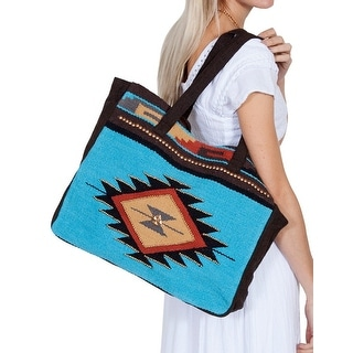 Scully Handbag Womens Aztec Design Metallic Beads One Size Teal C41 - One size