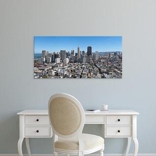 Easy Art Prints Panoramic Image 'View of cityscape, San Francisco, San Francisco County, California' Canvas Art