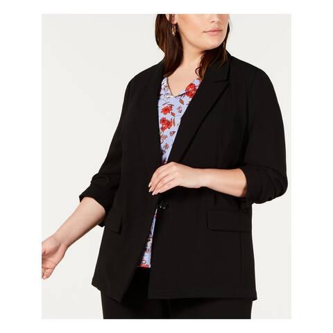 BAR III Womens Black Wear To Work Jacket Size 2X