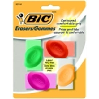 Bic Latex & Pvc Free Eraser With Grips, Pack 4