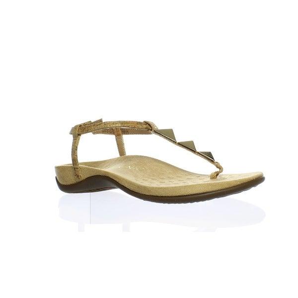 e4c19c6b8d1e Shop Vionic Womens Nala Gold Cork Ankle Strap Flats Size 7 - Free ...