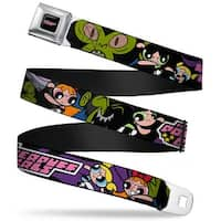 The Powerpuff Girls Black White Pink Full Color The Powerpuff Girls Seatbelt Belt