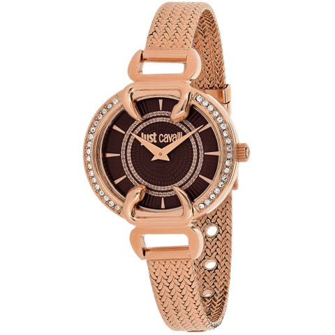 Just Cavalli Women's Luxury Brown Dial Watch - 7253534502