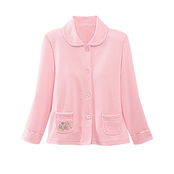 e0f5a00cd3 Shop Kay Anna NEW Pink Women s Size Medium M Sleepwear Bed Coat Robes -  Free Shipping On Orders Over  45 - Overstock - 20248677