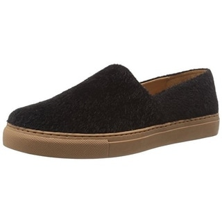 Clover Canyon Womens Faux Pony Hair Round Toe Fashion Loafers