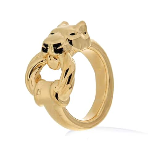 Forever Last 18 kt Gold Plated Women's Panther Ring