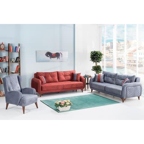 DiscountWorld Reksai Living Room Set (3-3-1-1)