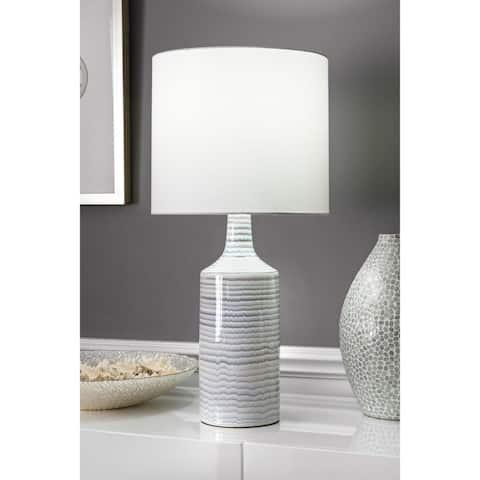 nuLOOM 28'' Theresa Ceramic Linen Shade Table Lamp