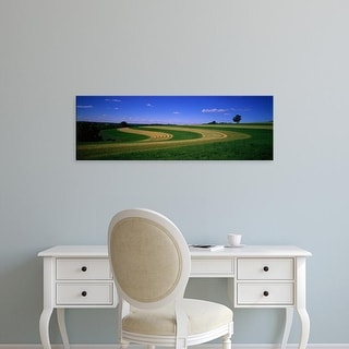 Easy Art Prints Panoramic Images's 'Farmland IL USA' Premium Canvas Art