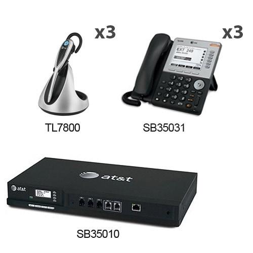 AT&T SB35010+(3)SB35031+(3)TL7800 SB35010 5 LCD Desksets+3 Cordless headsets