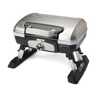 """Cuisinart Petit Gourmet Tabletop Portable Gas Grill Petit Gourmet Portable Tabletop Outdoor LP Gas Grill in Silver/Black"""