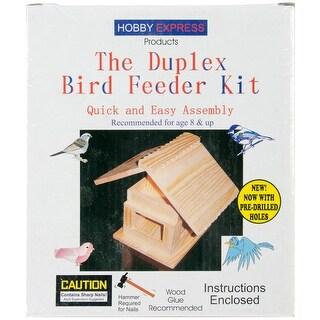 Unfinished Wood Kit-Duplex Bird Feeder