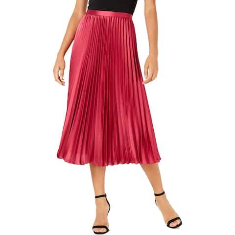Lucy Paris Womens Talia A-Line Skirt Pleated Midi - XL