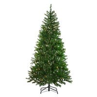 7' Pre-Lit Vail Spruce Medium Artificial Christmas Tree - Clear Lights - Green