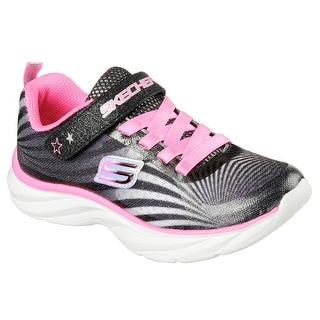 Skechers 80591 BKWP Girl's PEPSTERS - COLORBEAM Training