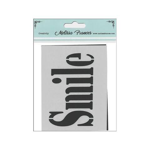 St4002 melissa frances stencil 3x4 smile