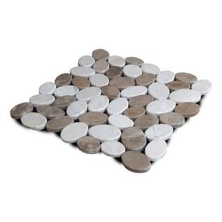 Miseno MT-C3RTWH Wheel Stone Mosaic Natural Stone Tile (9.68 SF / Carton)