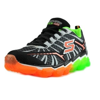 Skechers Boys Skech Air  Turbo Shock Youth  Round Toe Synthetic Black Sneakers