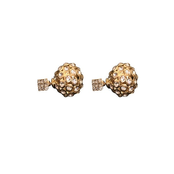 max & MO Gold Studded Front-Back Earring