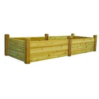 Gronomics RGBT 34-95 Unfinished 34 x 95 x 19 in. Raised Garden Bed