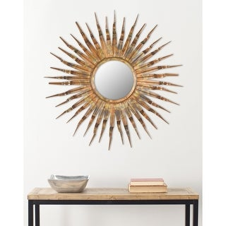 "Link to SAFAVIEH Handmade Art Solar Sunburst 36-inch Decorative Mirror - 36"" x 36"" x 1.5"" Similar Items in Mirrors"