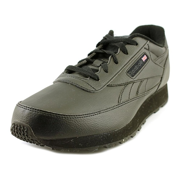 Reebok Classic Renaissance Men 4E Round Toe Leather Black Sneakers