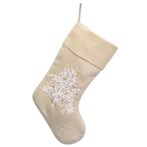 191e32f45 Shop Pack of 6 Elegant Metallic Gold Tree Stockings with Festiv White    Gold Christmas Tree Design 19