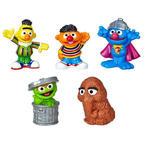 Sesame Street Neighborhood Friends, 5 Figures, 3-Inches, Classic Collectibles Pack, Toy For Kids 18 Months And Up