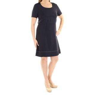 Link to SONIA RYKIEL Navy Short Sleeve Above The Knee Sheath Dress  Size 12 Similar Items in Dresses