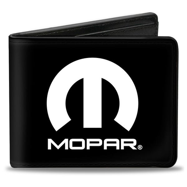 Mopar Logo Black White Bi Fold Wallet - One Size Fits most