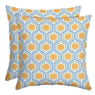 Link to Arden Selections Honeycomb Outdoor Throw Pillow, 2 pack - 16 in L x 16 in W x 5 in H Similar Items in Outdoor Cushions & Pillows