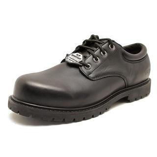 Skechers Cottonwood - Elks Men EW Round Toe Leather Black Work Shoe