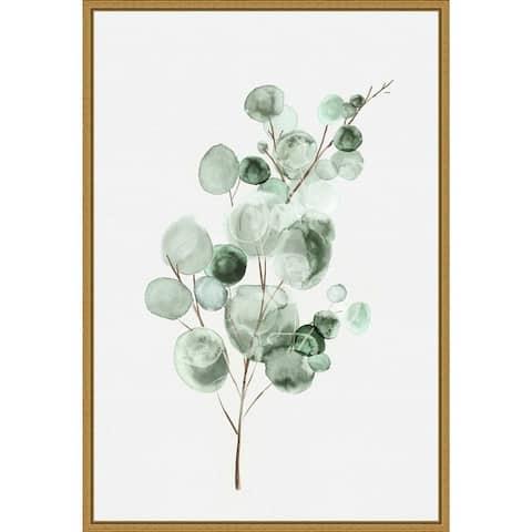 Tender Sprout II (Eucalyptus) by Eva Watts Framed Canvas Art