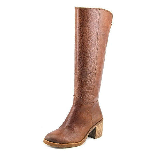 Lucky Brand Ritten Women Round Toe Leather Brown Knee High Boot