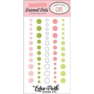 - Sweet Baby Girl Adhesive Enamel Dots 60/Pkg