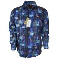 Robert Graham Men's KIVA Cotton Paisley Button Down Sports Dress Shirt
