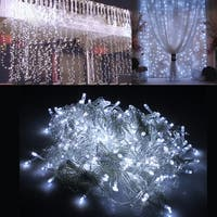 Image 300LED Curtain Lights String Light for Christmas Party Decoration White 3Mx3M