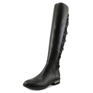 Vince Camuto Parle Women Round Toe Leather Black Knee High Boot