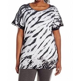 Marc New York NEW Black Women's Size 3X Plus Printed Tunic Knit Top