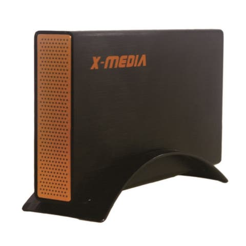 "X-Media XM-EN3251U3-BK 3.5"" SuperSpeed USB 3.0 Aluminum Case External SATA HDD Enclosure, Black - 5.0 x 1.5 x 8.4"
