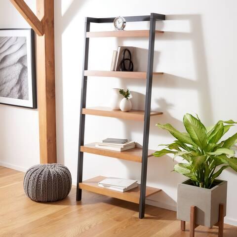 "Safavieh Beauregard 5-Tier Leaning Etagere Bookcase - 31.5"" W x 11"" L x 72.4"" H"