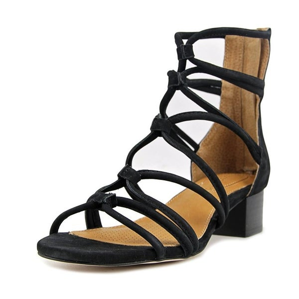 Corso Como Jenkins Women Open Toe Leather Black Sandals