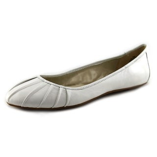 Nine West Blustery Women Round Toe Leather White Flats