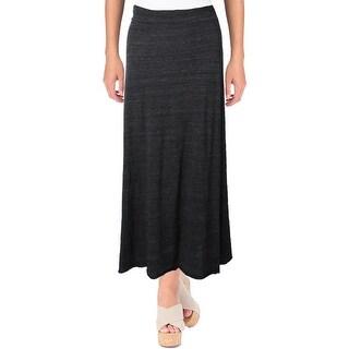 Alternative Earth Womens Juniors Maxi Skirt Ruched Heathered