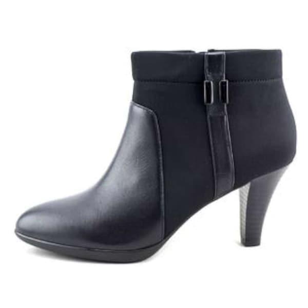 Alfani Womens Venah Leather Closed Toe Ankle Fashion Boots