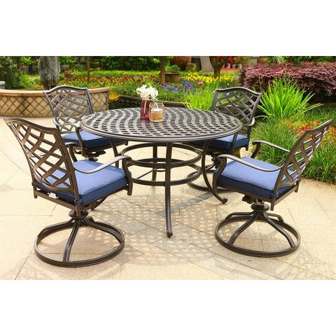Deer Lake 5-piece Outdoor Aluminum Dining Set with Cushions by Havenside Home