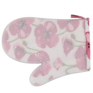 Silicone Flower Pattern Kitchen Heat Resistant Hands Protector Oven Mitt Glove