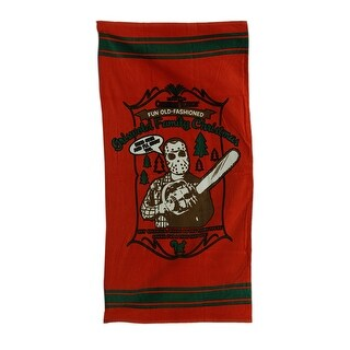 National Lampoon's Christmas Vacation Cotton Terry Beach Towel - Red