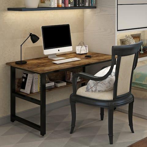 Nestfair Metal Frame Home Office Computer Writing Desk