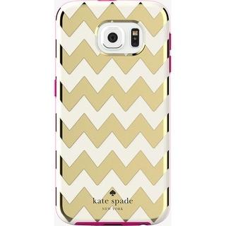 Kate Spade New York Flexible Hardshell Case for Samsung Galaxy S6 - Chevron Gold